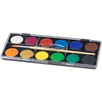 Faber Castell Νερομπογιές 12 χρώματα 30mm (125012)