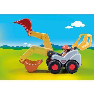 Playmobil 1 2 3 70125 Φορτωτής εκσκαφέας