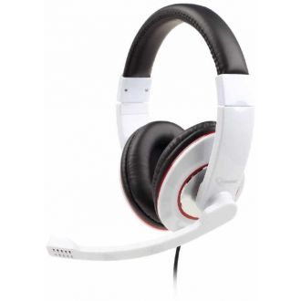 Gembird stereo headset with mic Glossy White (MHS-001-GW)