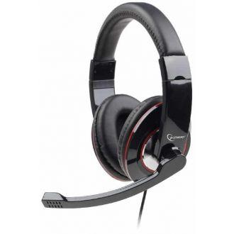Gembird stereo usb headset with mic Glossy Black (MHS-U-001)