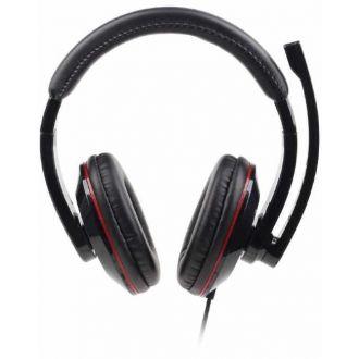 Gembird Ακουστικά USB stereo headset Glossy Black (MHS-U-001)