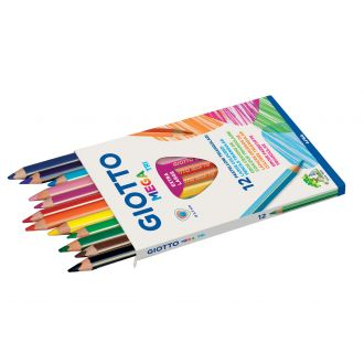 Giotto Ξυλομπογιές Mega - Tri 12 χρώματα 000220600