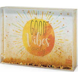 LEGAMI glitter photo frame medium - good vibes