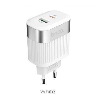 HOCO charger PD + QC3.0 C58A Λευκό (HC-C58W)