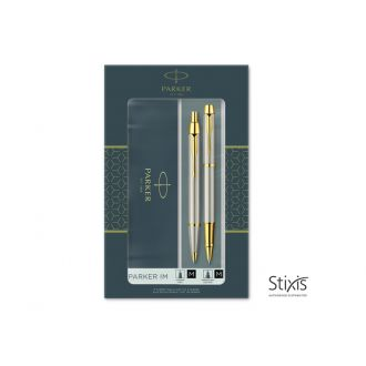 Parker Set Στυλό I.M. Duo Brushed Metal GT Rollerball - Ballpen (1158.9024.56)