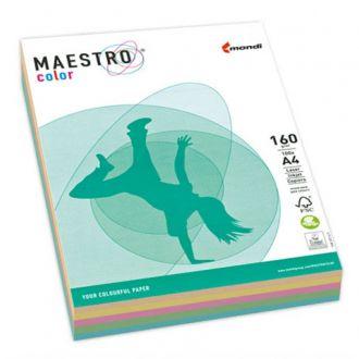 Mondi Χαρτί Maestro color A4 160gr Rainbow 5 χρωμάτων pastel MD729A