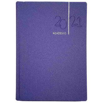 Academic ημερολόγιο ημερήσιο 14.5x20.5 μωβ U60AK.702