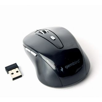 Gembird Ποντίκι USB Wireless 6 Buttons Black (MUSW-6B-01)