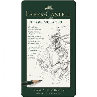 Faber Castell Μεταλλική κασετίναμε μολύβια σχεδίασης art 12 τεμάχια (119065)