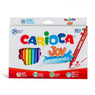Carioca Μαρκαδόροι Joy Superwashable 24 χρώματα 40615
