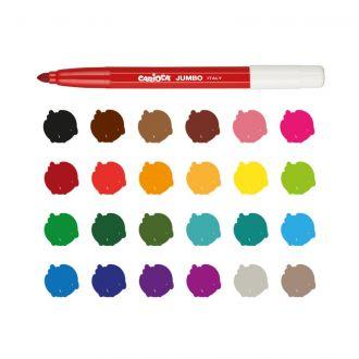 Carioca Μαρκαδόροι Jumbo Superwashable 24 χρώματα 40570
