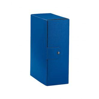 Esselte Κουτί αρχείου Eurobox με κουμπί Ράχη 12cm Μπλέ 390332050