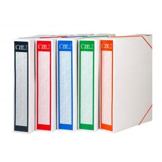 Ιωνία Κουτί αρχείου με λάστιχο χάρτινο Ράχη 7cm Διάφορα χρώματα