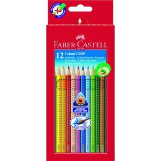 Faber Castell Ξυλομπογιές Grip 12 χρώματα 112412