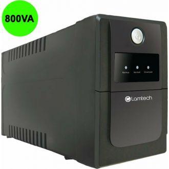 Lamtech UPS with AVR 800V, CPU 12V9AH 2 schoko socket