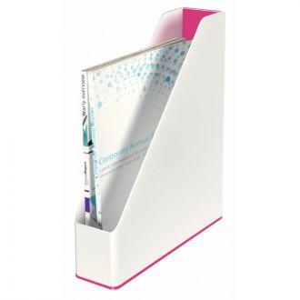 Leitz Θήκη περιοδικών WOW πλαστική Λευκό - Ρόζ