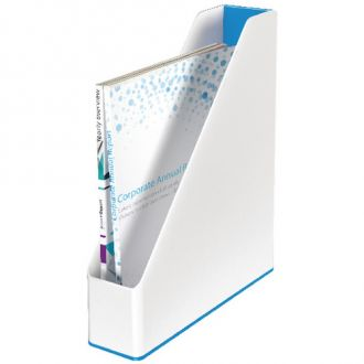 Leitz Θήκη περιοδικών WOW πλαστική Λευκό - Μπλέ