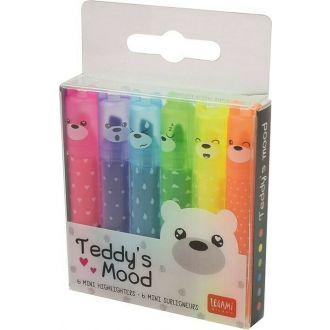 Legami 6 mini highlighters - teddy's mood