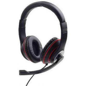 Gembird Ακουστικά 3,5mm jack stereo headset Black & Red (MHS-03-BKRD)