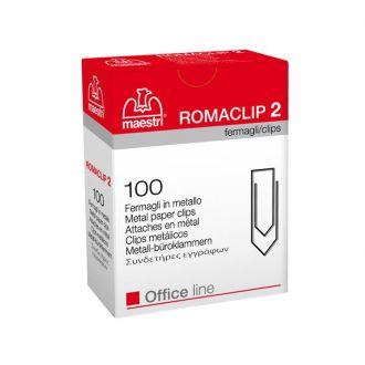 Romaclip Συνδετήρες No2 100τμχ