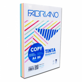 Fabriano Tinta Χρωματιστό χαρτί Α4 80gr Rainbow 250 Φύλλα 5 έντονα χρώματα
