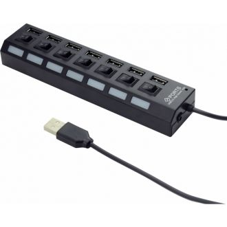 Gembird USB Hub 7-port 3.0 with switch (UHB-U2P7-03)
