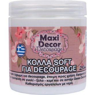 Maxi Decor Decoupage Κόλλα soft 250ml (9120c)