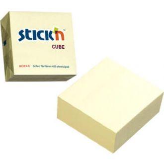 Stick'n Χαρτάκια σημειώσεων αυτοκόλλητα κίτρινα 76x76εκ. 100Φ. 21007